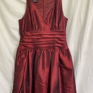 Dark red Dress Knee Length